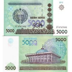 اسکناس 5000 سام - ازبکستان 2013
