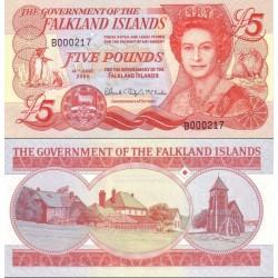 اسکناس 5 پوند - جزایر فالکلند 2005