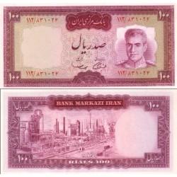139 - اسکناس 100 ریال جمشید آموزگار - مهدی سمیعی - تک