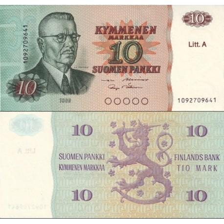 اسکناس 10مارک - فنلاند 1980