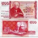اسکناس 500 کرون - ایسلند 2001