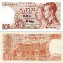 اسکناس 50 فرانک - بلژیک 1966