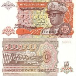 اسکناس 500000 زئیر - زئیر 1992