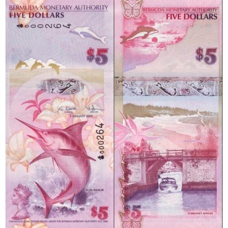 اسکناس 5 دلار - برمودا 2009