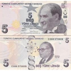 اسکناس 5 لیر - ترکیه 2009 سری C