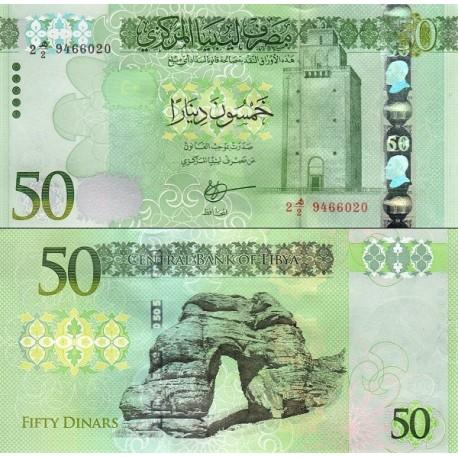 اسکناس 50 دینار -  لیبی 2016 ارزش ارزی معادل 35 دلار آمریکا