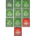 10 عدد تمبر سری پستی - سوشارژ - مجارستان 1946 با شارنیه