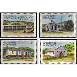 4 عدد تمبر جزیره کانوآن - گرندین سنت وینسنت 1984 قیمت 3.4 دلار