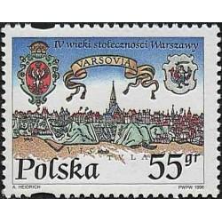 1 عدد تمبر چهارصدمین سالگرد پایتخت لهستان - ورشو - لهستان 1996