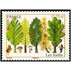2 عدد تمبر مشترک اروپا - Europa Cept - جنگل - خود چسب - فرانسه 2011 ارزش روی تمبر 0.75 یورو