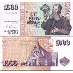 اسکناس 1000 کرون - ایسلند 2001