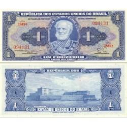 اسکناس 1 کروزرو - برزیل 1954  سری 1801-2700