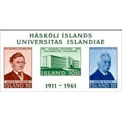 مینی شیت پنجاهمین سالگرد تاسیس دانشگاه ایسلند - بیدندانه - ایسلند 1961