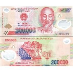 اسکناس پلیمر 200000 دونگ - ویتنام 2016 دو رقم اول سریال سال انتشار