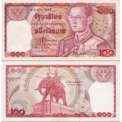 اسکناس 100 بات - تایلند 1978