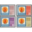 4 عدد تمبر سال بین المللی حقوق بشر - سریلانکا 1968