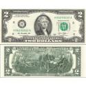 اسکناس 2 دلار - آمریکا 2013 سری L سان فرانسیسکو - مهر سبز