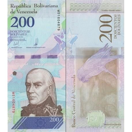 اسکناس 200 بولیوار - ونزوئلا 2018 تاریخ   13.03.2018