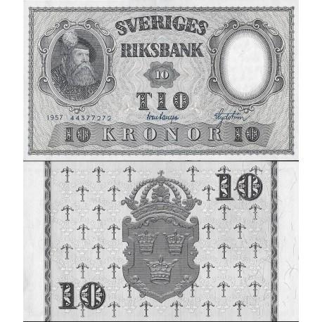 اسکناس 10 کرون - سوئد 1957