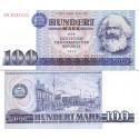 اسکناس 100 مارک - کارل مارکس - جمهوری دموکراتیک آلمان 1975 ارقام سریال درشت