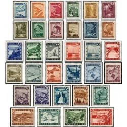 33 عدد تمبر سری پستی مناظر - سری کامل - اتریش 1945 قیمت 18 دلار