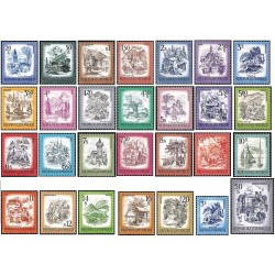 28 عدد تمبر سری پستی مناظر - سری کامل - اتریش 1973 تا 1983 قیمت 54 دلار