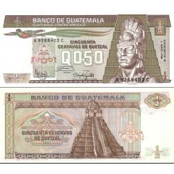 اسکناس 0.5 کواتزل - گواتمالا 1986 تاریخ 03.01.1986