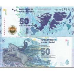 اسکناس 50 پزو - آرژانتین 2015