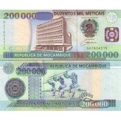 اسکناس 200000 متیکا - موزامبیک 2003