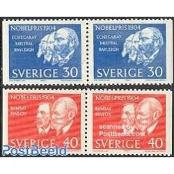 2 جفت تمبر برندگان جایزه نوبل - جفت بوکلت - سوئد 1965