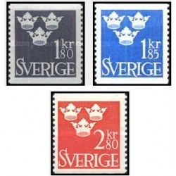 3 عدد تمبر سری پستی تاج - سوئد 1967 قیمت 7.9 دلار