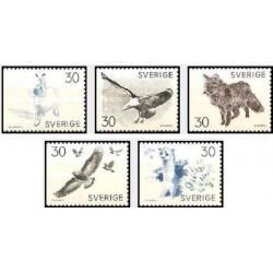 5 عدد تمبر حیوانات - سوئد 1968