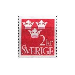 1 عدد تمبر سری پستی تاج - سوئد 1969