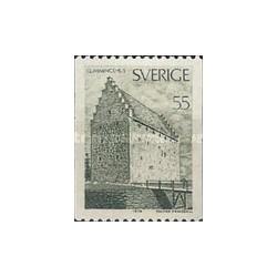 1 عدد تمبر بناهای مهم - گلمینگ هاوس - سوئد 1970