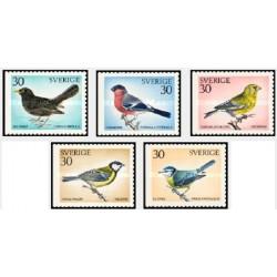 5 عدد تمبر پرندگان سوئدی - سوئد 1970