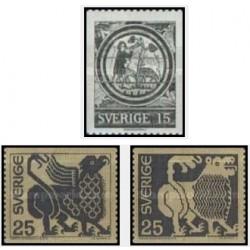 3 عدد تمبر سری پستی - سوئد 1971