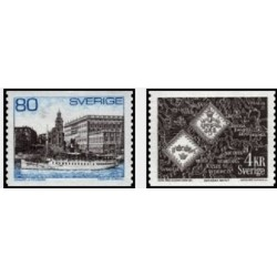 2 عدد تمبر سری پستی - سوئد 1971