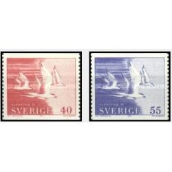 2 عدد تمبر امداد پناهندگان - سوئد 1971