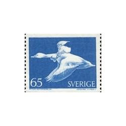 1 عدد تمبر پرنده - نیلز هولگرسون - سوئد 1971