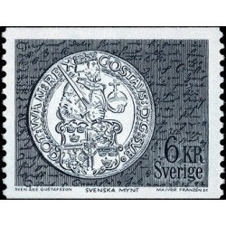 1 عدد تمبر سکه قدیمی سوئدی - سوئد 1972