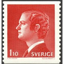 1 عدد تمبر سری پستی - پادشاه کارل گوستاو شانزدهم - سوئد 1975