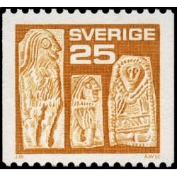 1 عدد تمبر سری پستی - دوره وندال - سوئد 1975