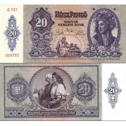 اسکناس 20 فورینت - مجارستان 1941