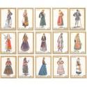 15 عدد تمبر لباسهای محلی - یونان 1974