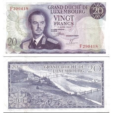 اسکناس 20 فرانک - لوگزامبورگ  1966 با تاریخ