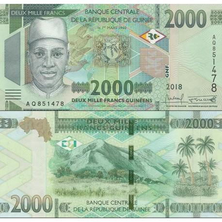 اسکناس 2000 فرانک - گینه 2018