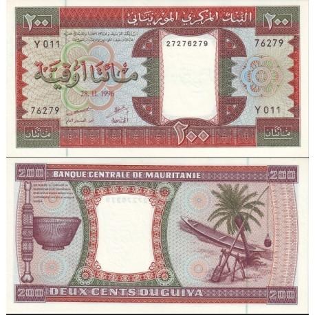 اسکناس 200 اوقیه - موریتانی 1996 تاریخ 28.11.1996