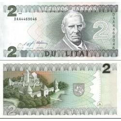 اسکناس 2 لیتای - لیتوانی 1993