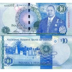 اسکناس 10 پانگا - پادشاهی تونگا 2015