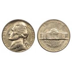 سکه 5 سنت - نیکل مس - آمریکا 1970 غیر بانکی